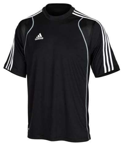 auslaufmodell adidas team tee t8 m nner schwarz wei s ilber t shirt. Black Bedroom Furniture Sets. Home Design Ideas