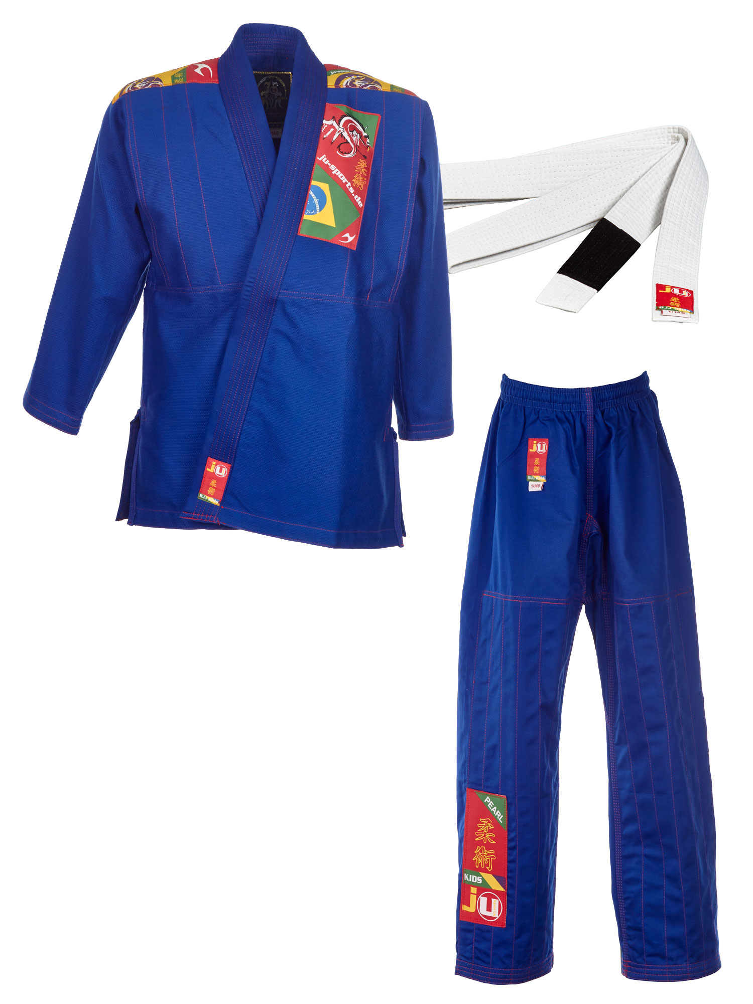 BJJ-Anzug Kids blau