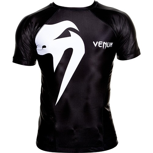 Venum Rash Guard Shortsleeve 'Giant' black, 0149