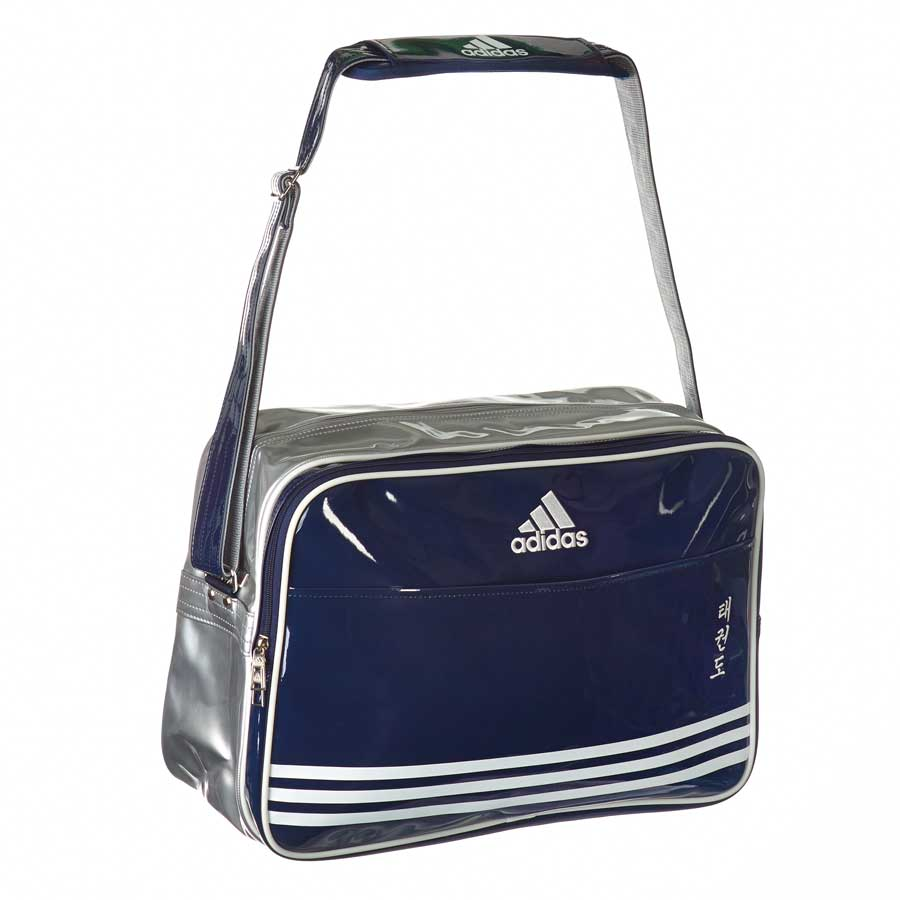 adiACC100CS2 Shiny Sports Bag PU navy blau/silber TKD