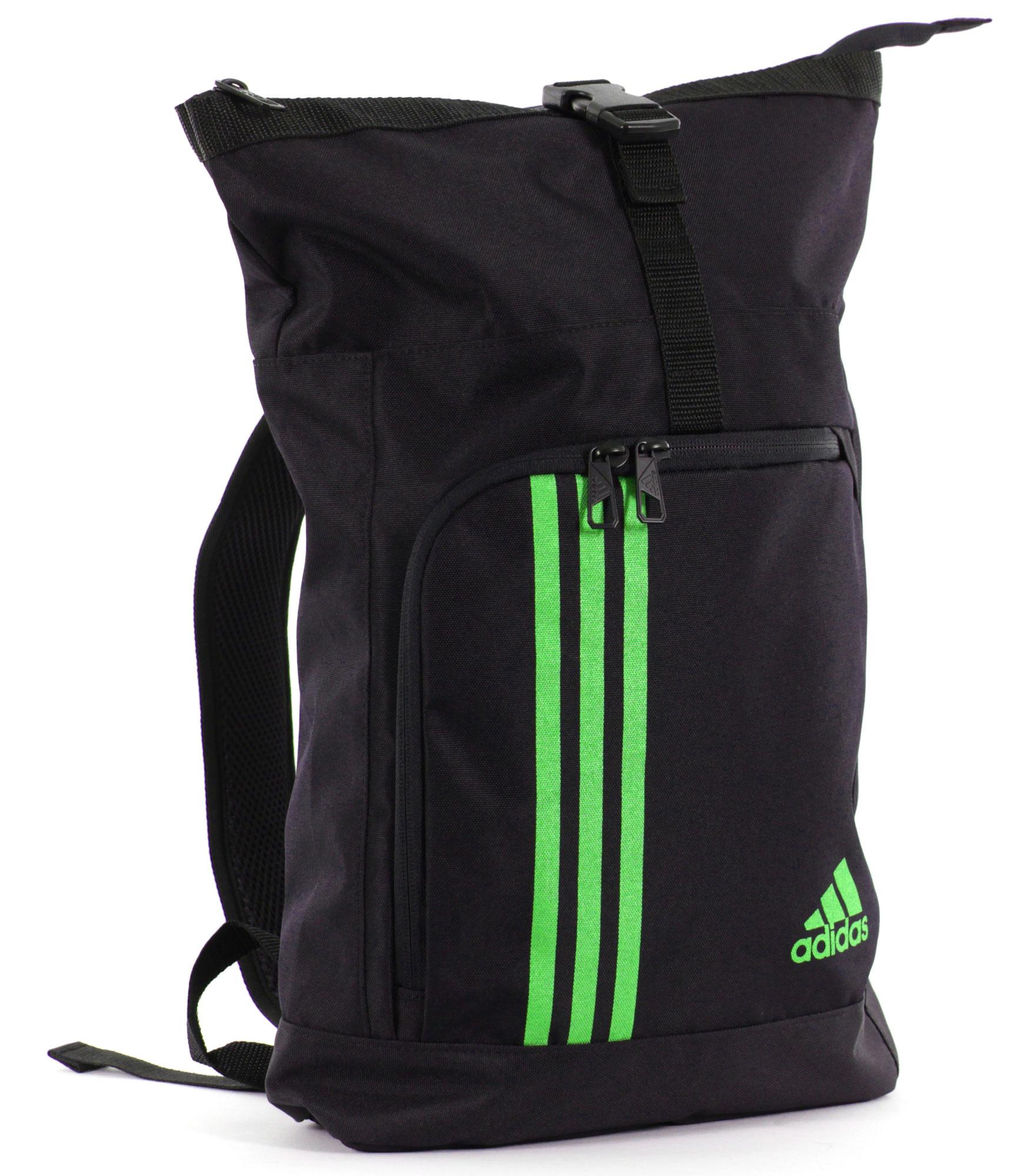 adidas seesack sporttasche und rucksack adiacc041 l schwarz solar green g nstig bei sport und. Black Bedroom Furniture Sets. Home Design Ideas