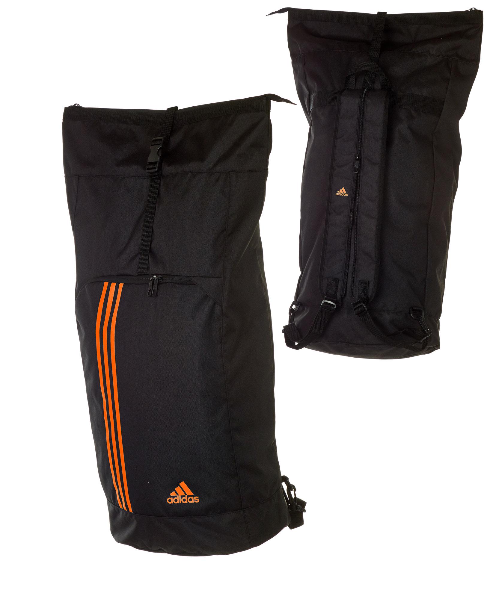 adidas seesack sporttasche und rucksack adiacc041 l schwarz orange g nstig bei sport und spiel 99. Black Bedroom Furniture Sets. Home Design Ideas
