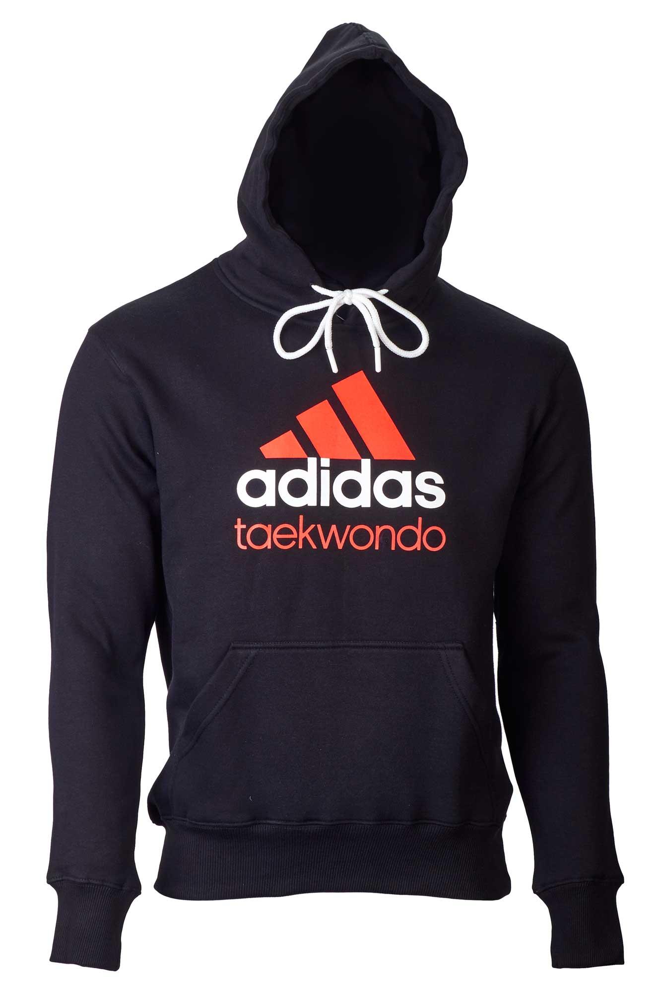 adidas community line hoody taekwondo schwarzorange